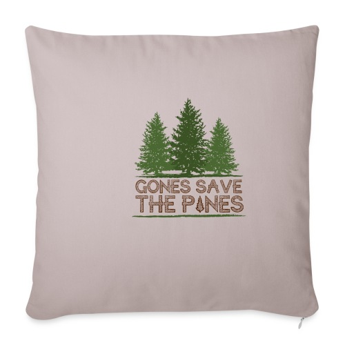 Gones save the pines - Housse de coussin décorative 45 x 45 cm
