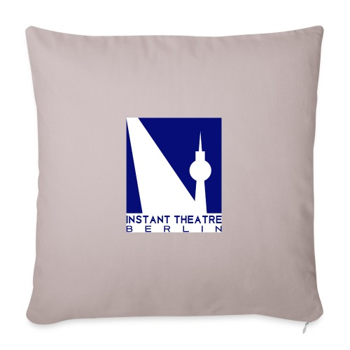 Instant Theater Berlin logo - Sofa pillowcase 17,3'' x 17,3'' (45 x 45 cm)