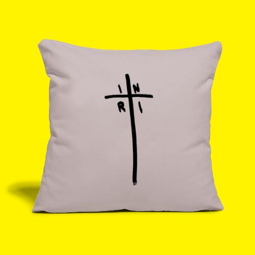 Cross - INRI (Jesus of Nazareth King of Jews) - Sofa pillowcase 17,3'' x 17,3'' (45 x 45 cm)