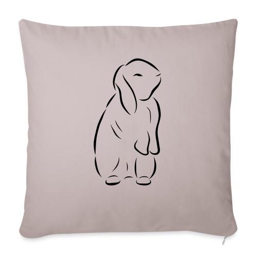 stehendes Häschen Hase Kaninchen Zwergkaninchen - Sofakissenbezug 44 x 44 cm