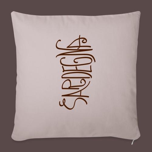 Sardegna Calligrafica v2 - Copricuscino per divano, 45 x 45 cm