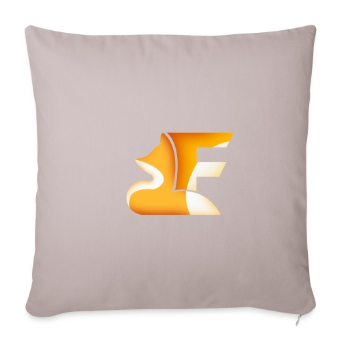 FoxChannel LOGO - Copricuscino per divano, 45 x 45 cm