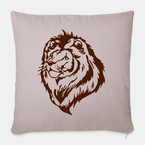 Lion portrait - Sofa pillowcase 17,3'' x 17,3'' (45 x 45 cm)