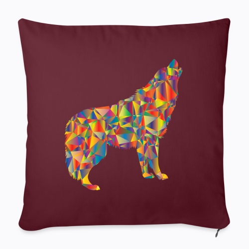 howling colorful - Sofa pillowcase 17,3'' x 17,3'' (45 x 45 cm)
