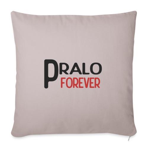 pralo forever noir et rouge - Housse de coussin décorative 45x 45cm