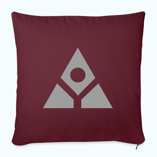 Sacred geometry gray pyramid circle in balance - Sofa pillowcase 17,3'' x 17,3'' (45 x 45 cm)