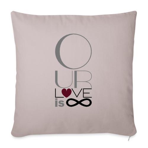 Our Love is Infinite - Sofa pillowcase 17,3'' x 17,3'' (45 x 45 cm)