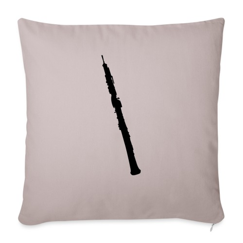 Oboe en sombra negro - Funda de cojín, 45 x 45 cm