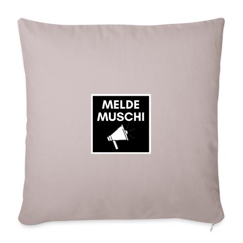 Meldemuschi - Sofakissenbezug 44 x 44 cm