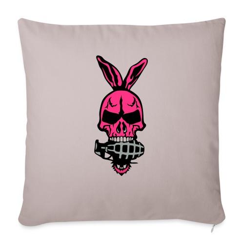 tete mort oreille lapin skull grenade 1 - Housse de coussin décorative 45x 45cm