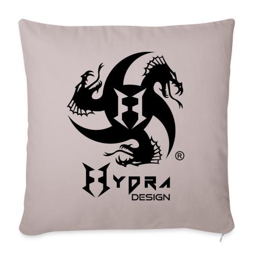 Hydra DESIGN - logo blk - Copricuscino per divano, 45 x 45 cm