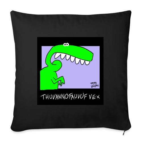 Dinosaur Thuvannofauvuf vex - Soffkuddsöverdrag, 45 x 45 cm