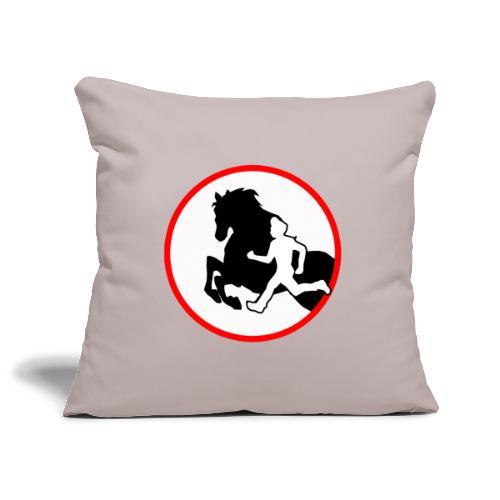 Horse Agility Logo - Sofakissenbezug 44 x 44 cm