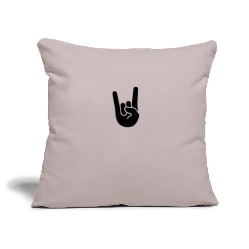 hand rock - Soffkuddsöverdrag, 45 x 45 cm
