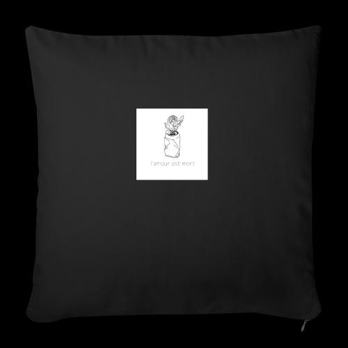 l'amour est mort - Housse de coussin décorative 45x 45cm