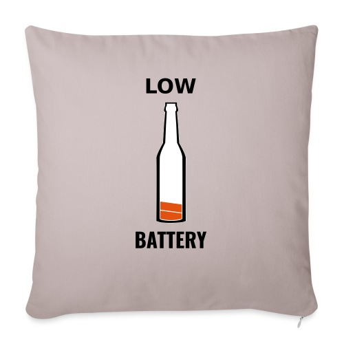 Beer Low Battery - Housse de coussin décorative 45 x 45 cm