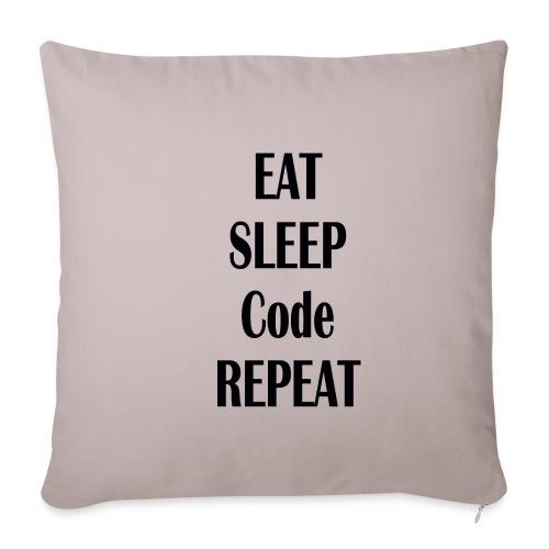 EAT SLEEP CODE REPEAT - Sofakissenbezug 44 x 44 cm