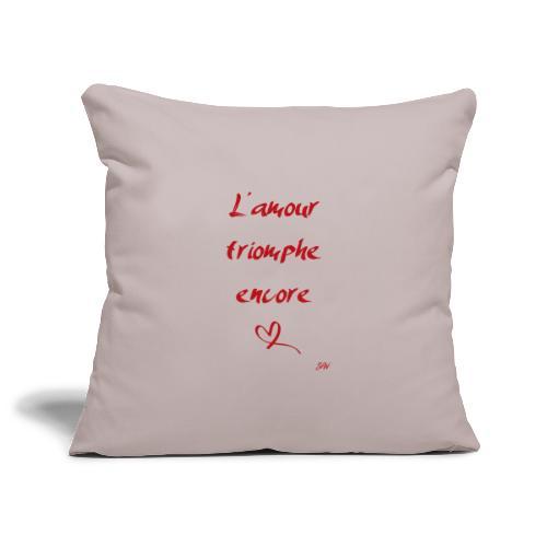 L'amour triomphe encore - Housse de coussin décorative 45x 45cm