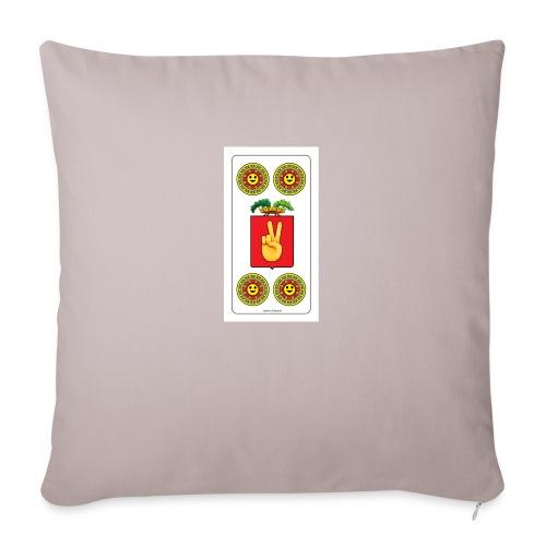 Piacentine Quattro Di Denari Con Smile - Copricuscino per divano, 45 x 45 cm