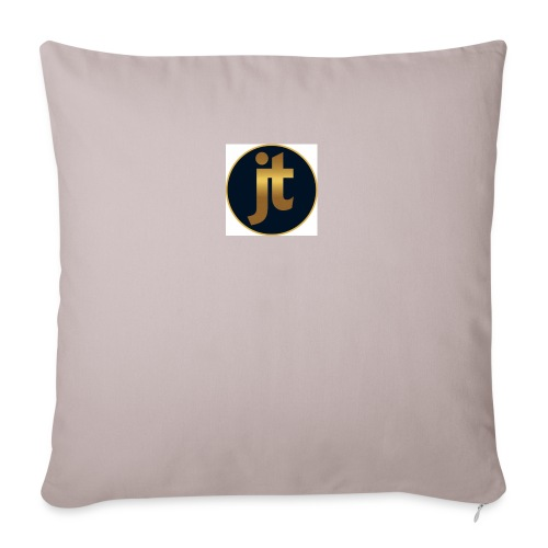 Golden jt logo - Sofa pillowcase 17,3'' x 17,3'' (45 x 45 cm)