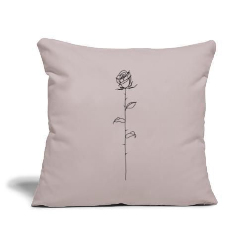 Black Rose - Sofa pillowcase 17,3'' x 17,3'' (45 x 45 cm)