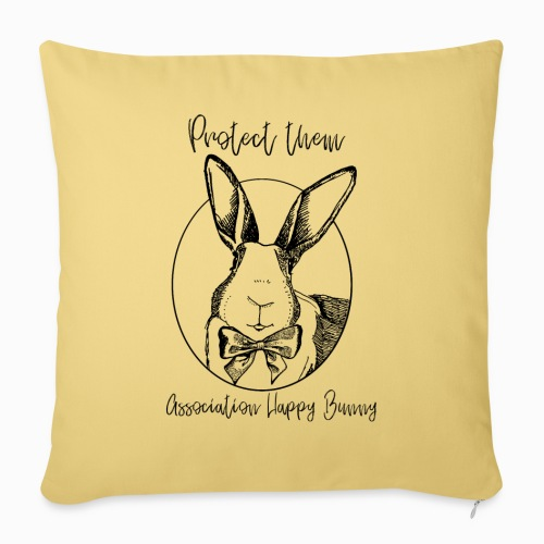 Happy Bunny Fundraiser - Sofa pillowcase 17,3'' x 17,3'' (45 x 45 cm)