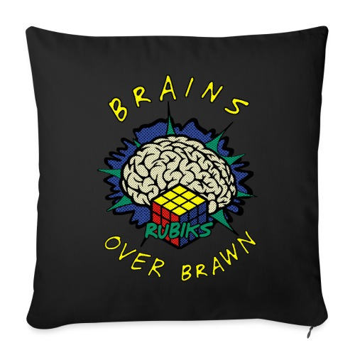 Rubik's Cube Brains Over Brawn - Sofa pillowcase 17,3'' x 17,3'' (45 x 45 cm)