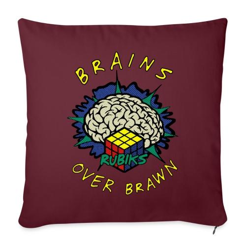 Rubik's Cube Brains Over Brawn - Sofa pillowcase 17,3'' x 17,3'' (45 x 45 cm)