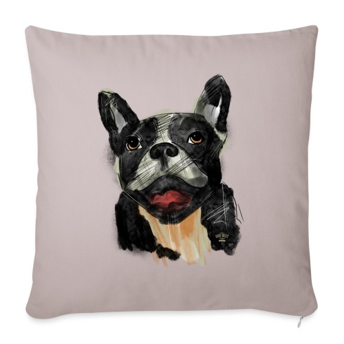 French Bulldog Portrait - lebendig und urban - Sofakissenbezug 44 x 44 cm