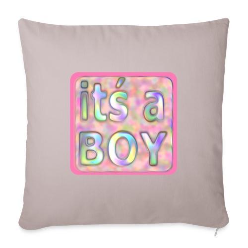 its a boy rosa text skylt - Sofa pillowcase 17,3'' x 17,3'' (45 x 45 cm)