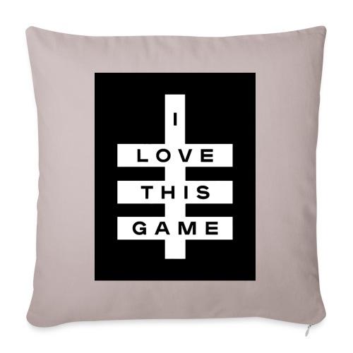 I love this game logo - Sofa pillowcase 17,3'' x 17,3'' (45 x 45 cm)