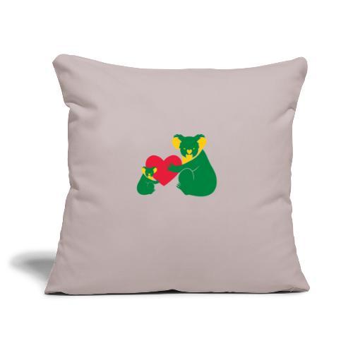 Koala Heart Baby - Sofa pillowcase 17,3'' x 17,3'' (45 x 45 cm)