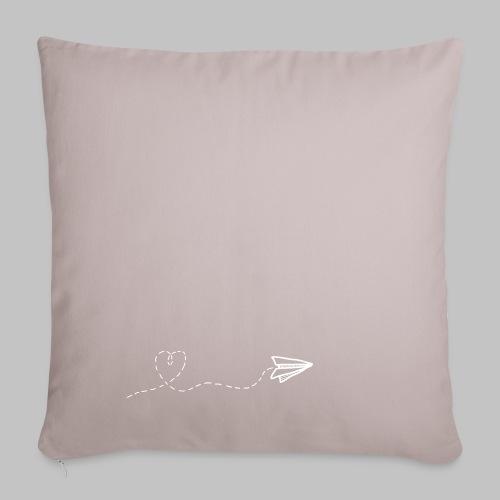 fly heart - Sofa pillowcase 17,3'' x 17,3'' (45 x 45 cm)