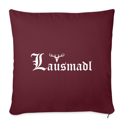 Lausmadl mit Hirsch - Sofakissenbezug 44 x 44 cm