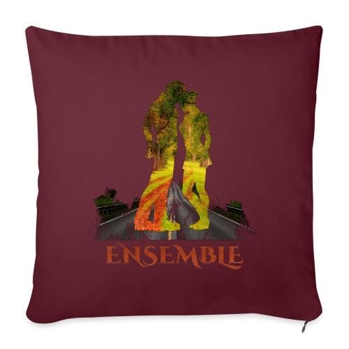 Ensemble -by- T-shirt chic et choc - Housse de coussin décorative 45x 45cm