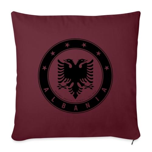 Patrioti Albania Black - Sofakissenbezug 44 x 44 cm