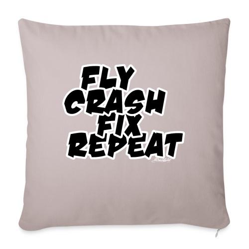 FlyCrashFixRepeat signed - Sofa pillowcase 17,3'' x 17,3'' (45 x 45 cm)