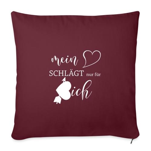 Mein Herz schlägt nur für dich, Valentinstag - Sofakissenbezug 44 x 44 cm