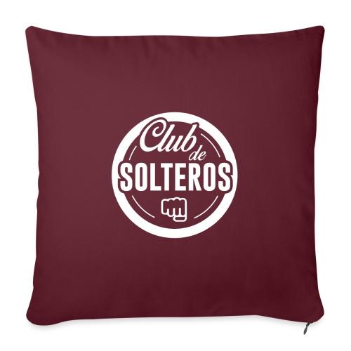 Club de Solteros (logo blanco) - Funda de cojín, 45 x 45 cm