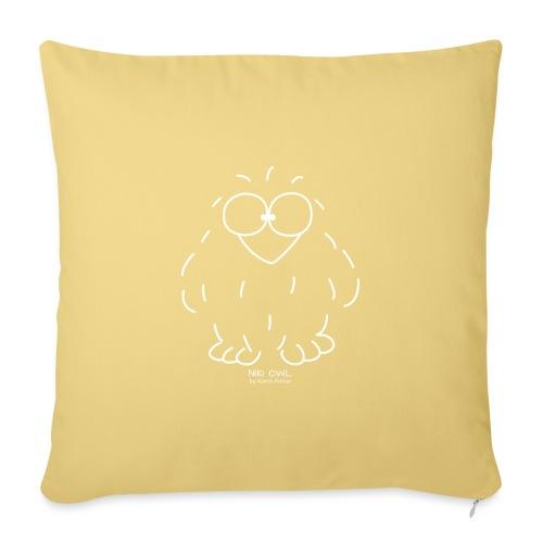 Niki Owl (blanco) - Sofa pillowcase 17,3'' x 17,3'' (45 x 45 cm)