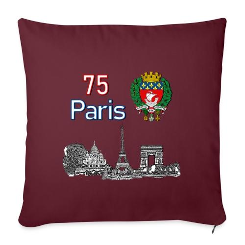 Paris france - Housse de coussin décorative 45x 45cm