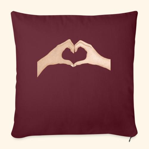Mains Coeur Amour - Love hands - Housse de coussin décorative 45x 45cm