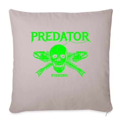 Predator fishing green - Sofakissenbezug 44 x 44 cm