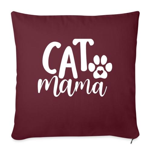 CAT MAMA - Housse de coussin décorative 45x 45cm