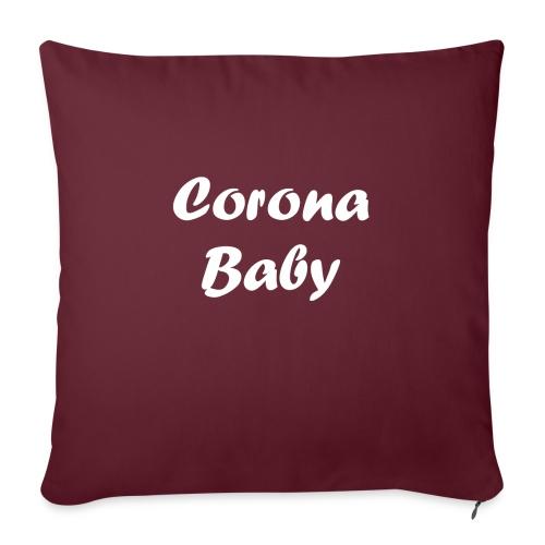 Corona baby merchandise white - Sofa pillowcase 17,3'' x 17,3'' (45 x 45 cm)
