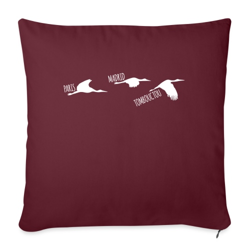 3 horizons oiseaux white - Housse de coussin décorative 45x 45cm