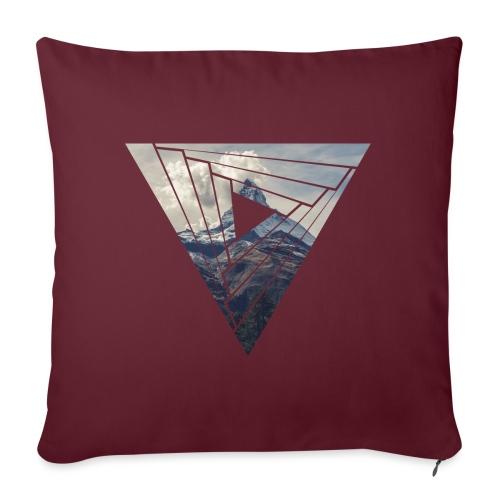 Matterhorn Zermatt Dreieck Design - Sofakissenbezug 44 x 44 cm