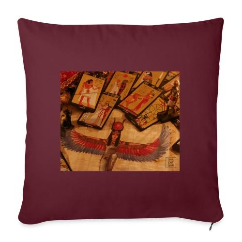 Tarocchi egizi - Copricuscino per divano, 45 x 45 cm