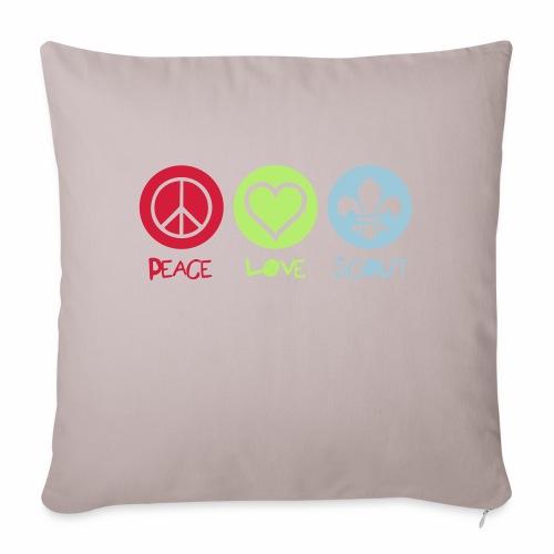 Peace Love Scout - Housse de coussin décorative 45x 45cm