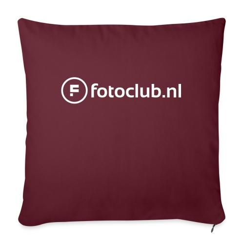 Logo Wit Fotoclublnl - Sierkussenhoes, 45 x 45 cm